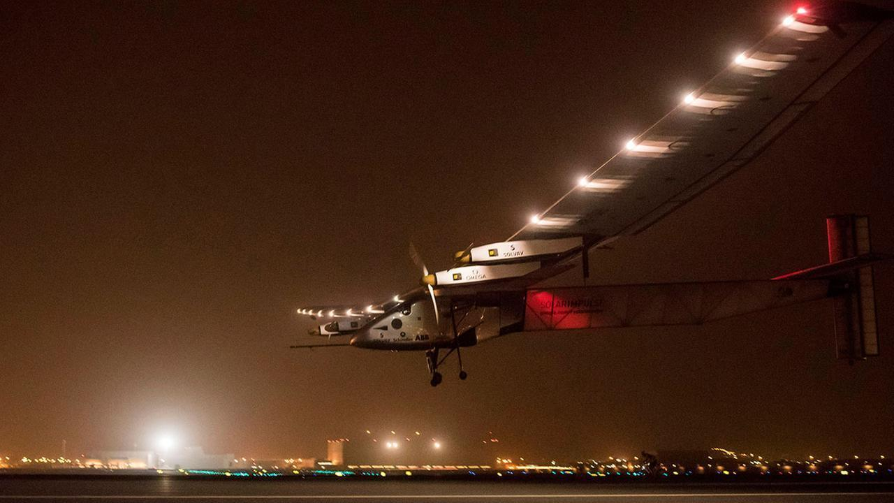 Solar plane delays attempt at most challenging leg of epic journey from China to Hawaii