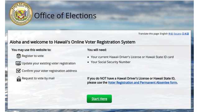 Office of Elections launches online voter registration system