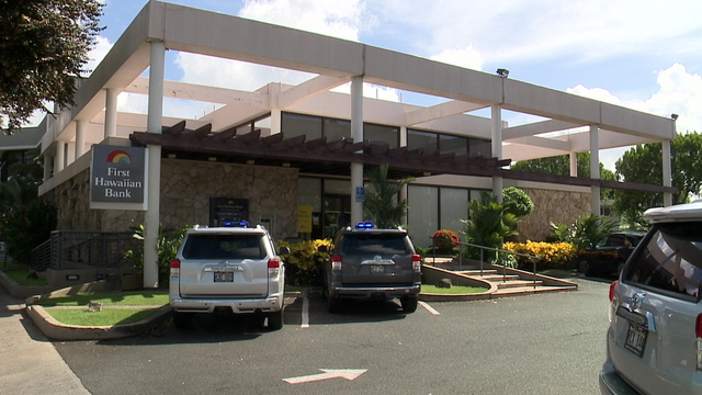 Suspect charged in First Hawaiian Bank robbery in Kapahulu