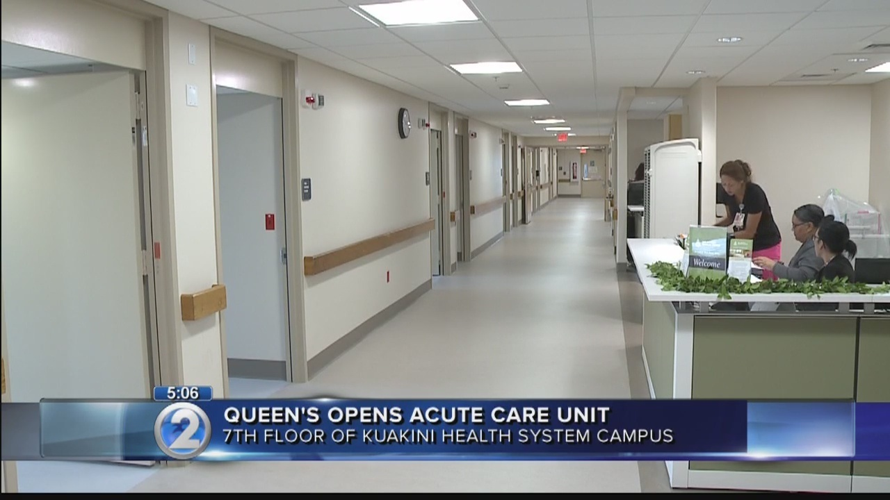 Queens Medical Center Opens Acute Care Unit At Kuakini