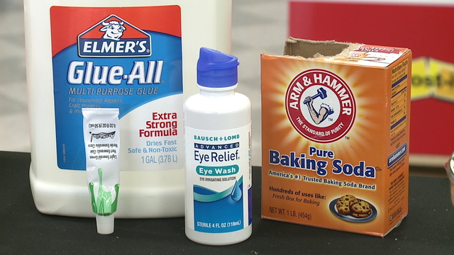 How to make slime using contact lens solution and glue