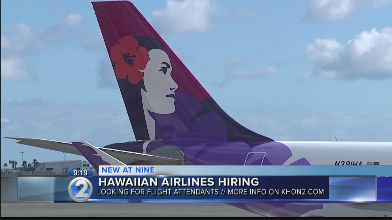 Hawaiian Airlines Hires Flight Attendants Bilingual Positions Included