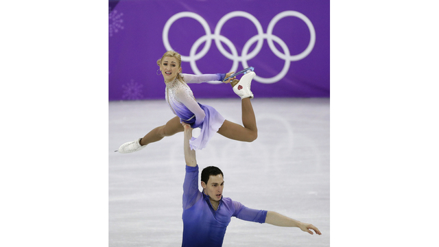 The Latest: Germans win Olympic pairs figure skating gold