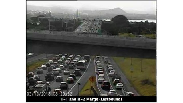 Heavy eastbound traffic causes Zipper lane extended hours