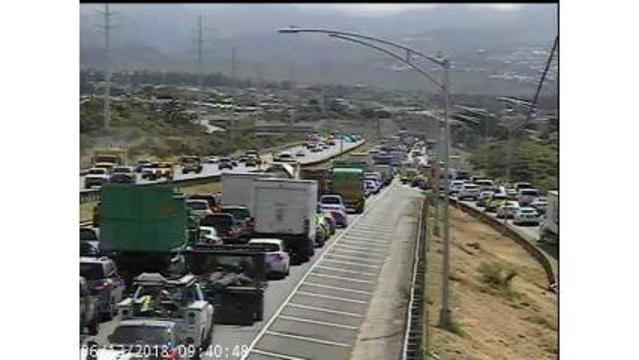 Lanes reopen following concrete spill on freeway