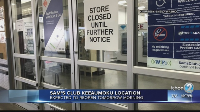 Sams Club Sunday Hours >> Sam S Club Keeaumoku To Reopen On Monday