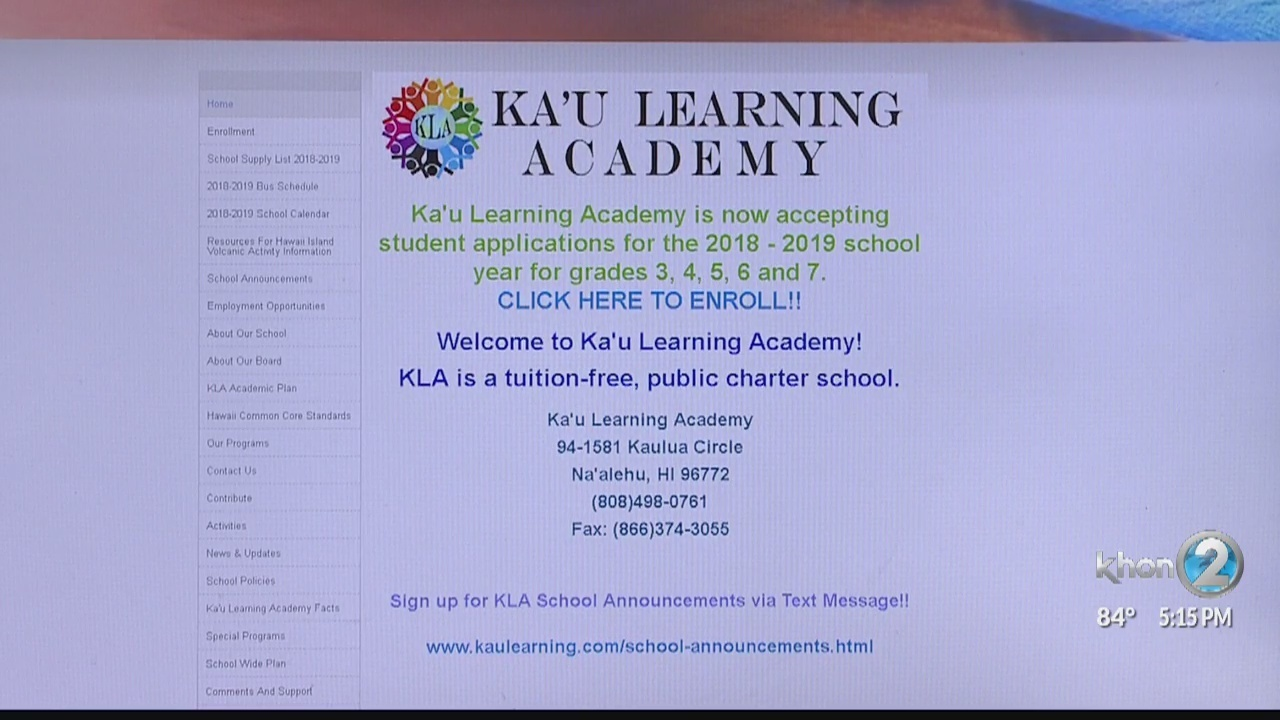 Kau Learning Academy Contract Revoked By Charter School Commission