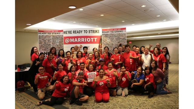 Hawaii hotel workers vote to authorize strike on Marriott