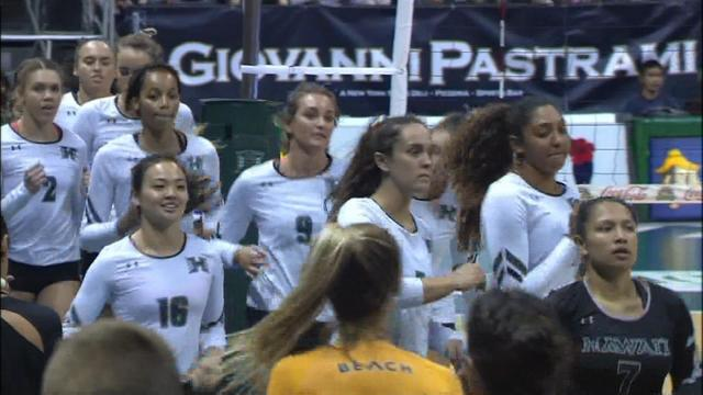 Wahine hold off Long Beach State in four-set affair
