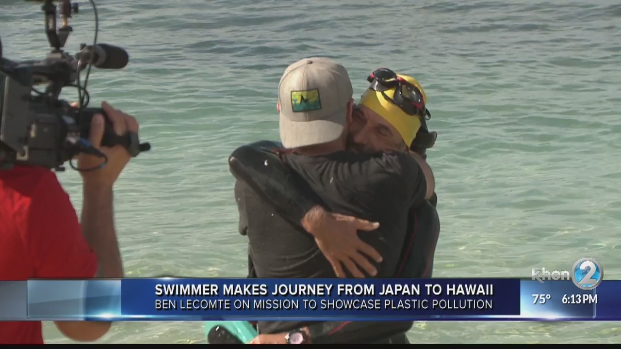 Man swims from Japan to Hawaii to raise awareness on ocean pollution