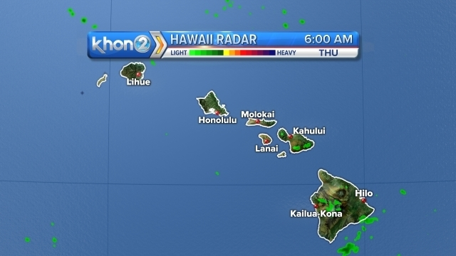 Expect more wet weather as a cold front approaches the islands