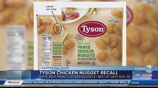 Tyson Foods Are Recalling Chicken Nuggets That May Be Contaminated