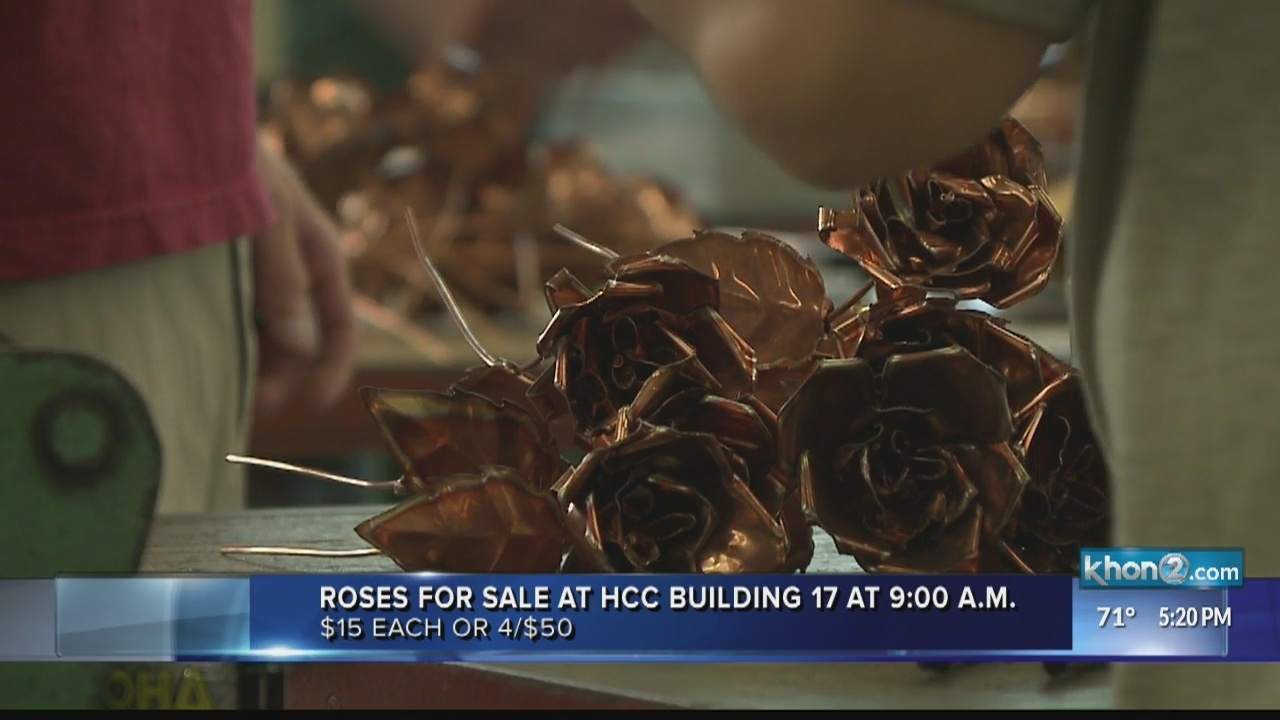 Copper roses that outlast Valentine's Day