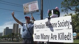 Protesters say animals are being put down unnecessarily at the Hawaiian Humane Society