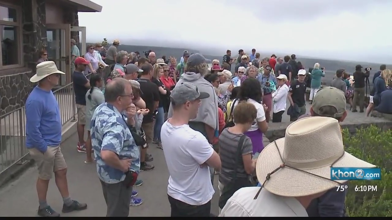 Number of visitors to National Parks in Hawaii dropped last year