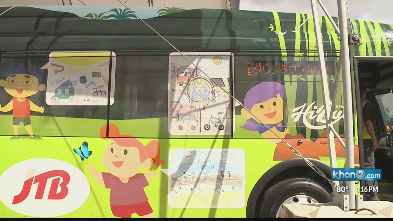 JTB Hawaii introduces the State's first electric-powered commercial bus fleet
