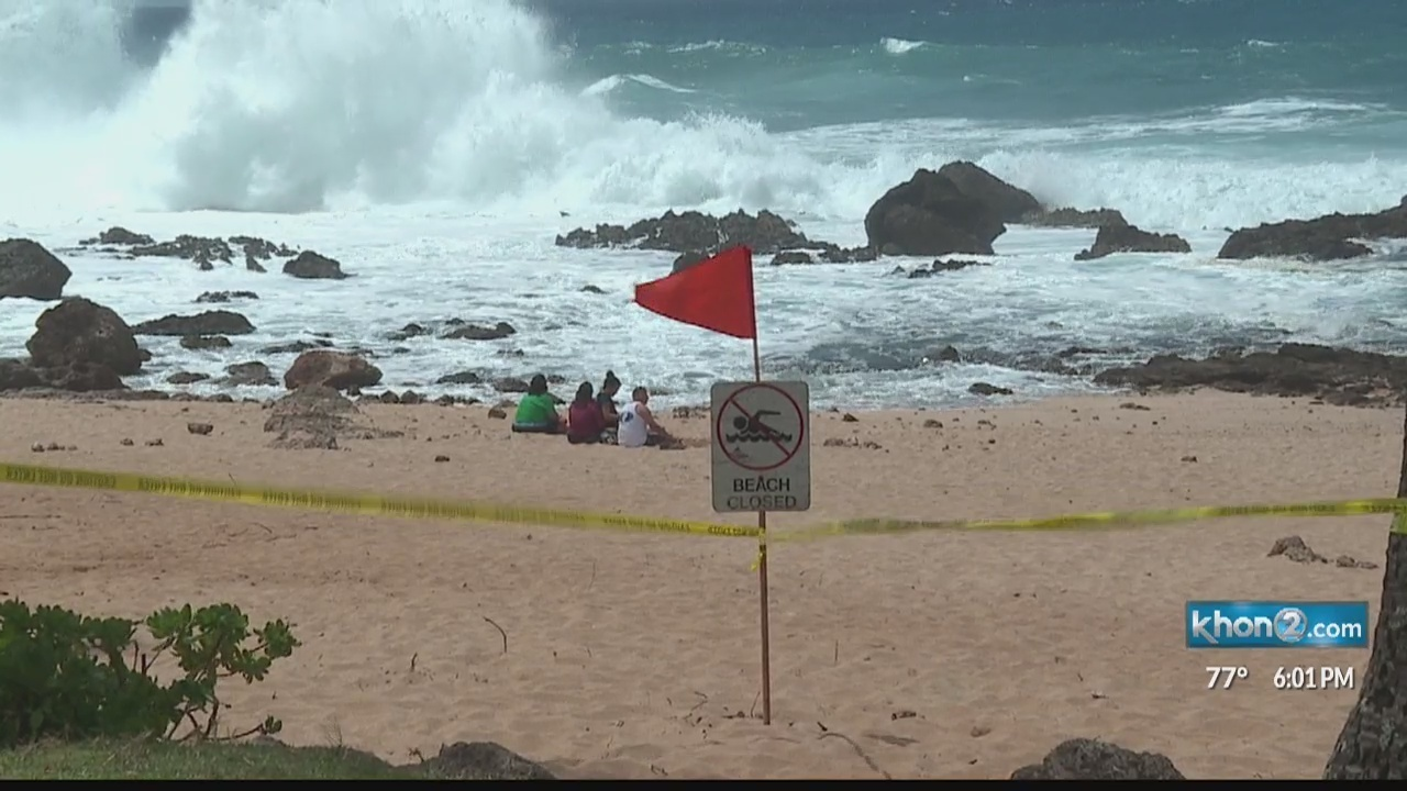 North Shore swell expected to peak overnight, coincide with king tide