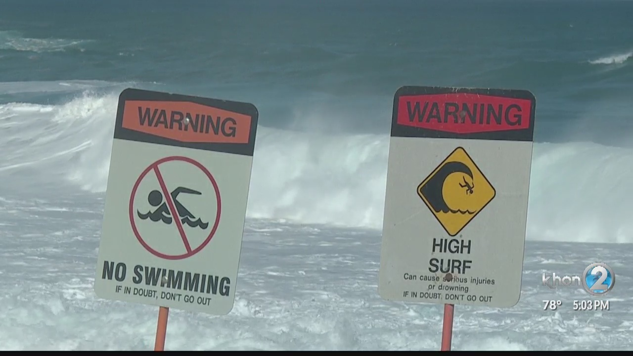 'We dodged a bullet,' says North Shore lifeguard after huge swell, king tide