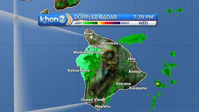Flood advisory issued for portions of the Big Island through 10pm