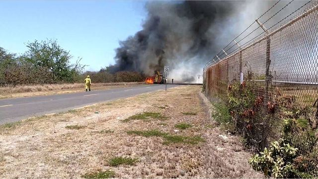 Wildland fire off of Coral Sea Road in Kapolei was intentionally started